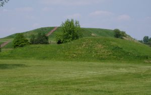 Cahokia Mounds State Park, site of the original Midwestern metropolis, within sight of St. Louis