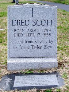 Grave marker for Dred Scott, Calvary Cemetery
