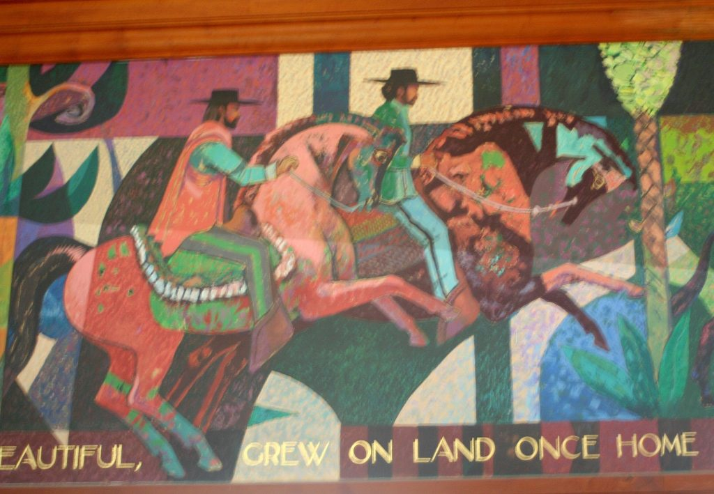 Horsemen in Lombard mural, San Francisco, 1976-1977