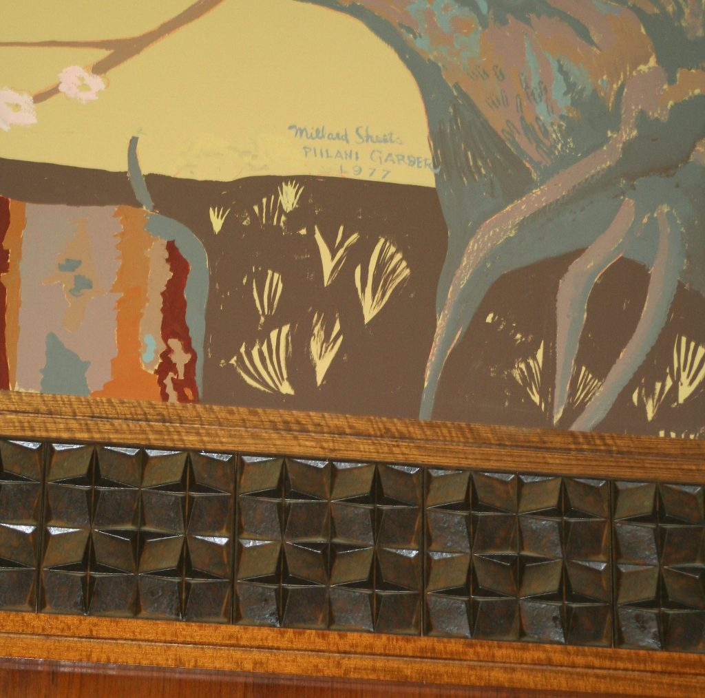 Section of West Portal mural painting, now lost