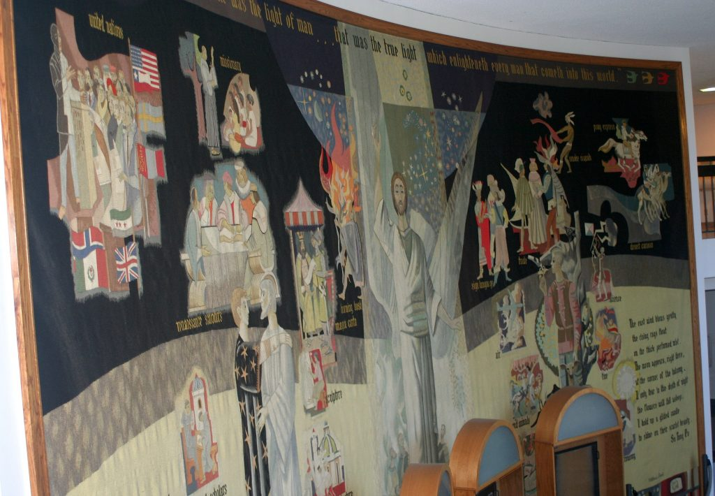 Millard Sheets (design), Pinton Freres of Aubusson, France (fabrication), Loyola Tapestry, 1964-1966
