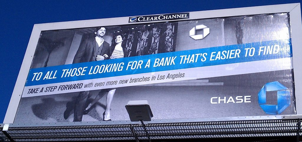 Chase billboard, May 2011, showing Sunset and Vine branch