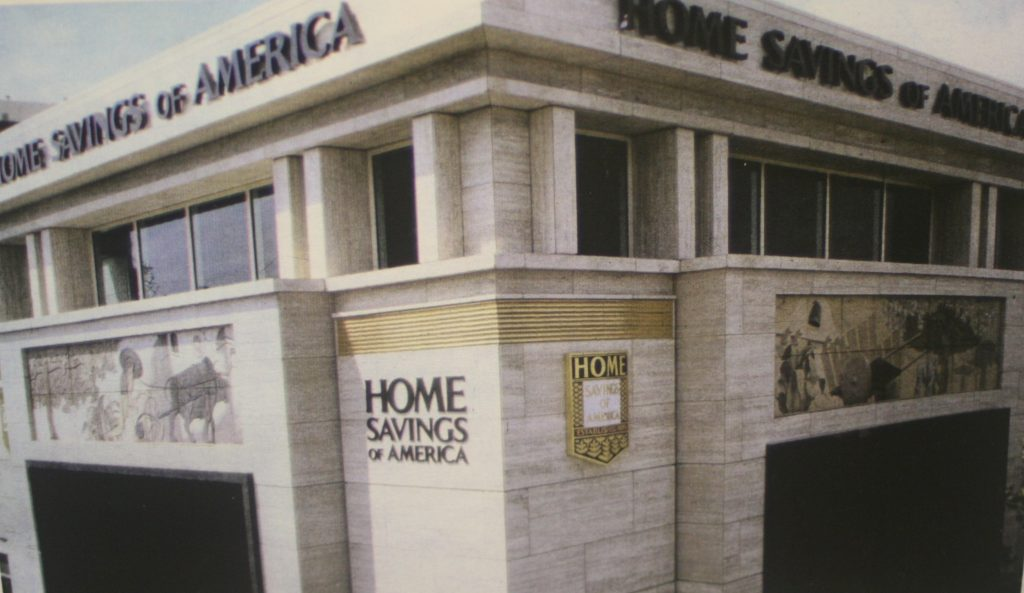 Home Savings, Sherman Oaks, 1989 - bas-relief panels by Steve Rogers