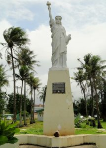 Statue of Liberty replica in Guam. Photograph c. 2004 by Douglas Sprott under Creative Commons license Flickr