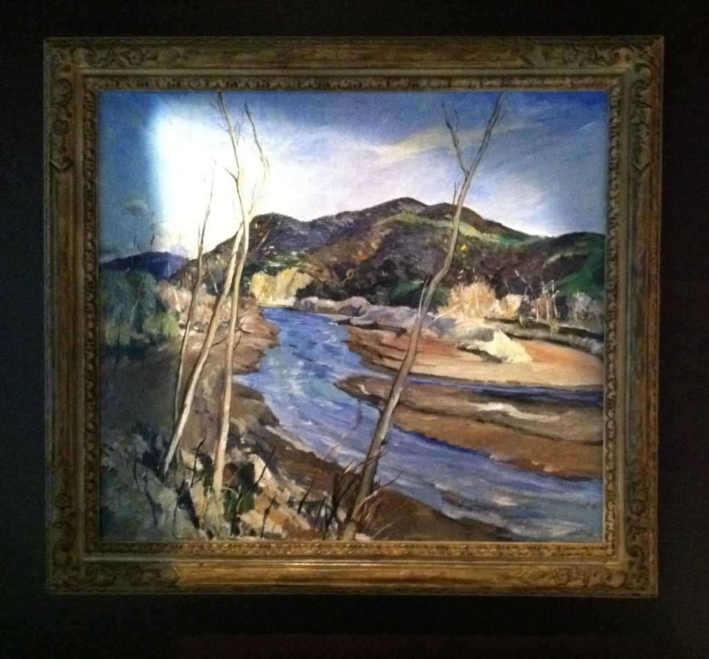 Millard Sheets, river scene, 1929-1930. Courtesy of Smith Brothers Restaurants.