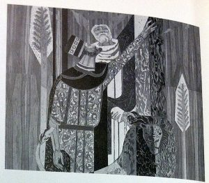 "Sue Hertel,  ""The Water and The Lion,"" mural detail, Mt. San Antonio College, Walnut, c. 1965 (from Hall and Pietzsch, comp., 1996)"