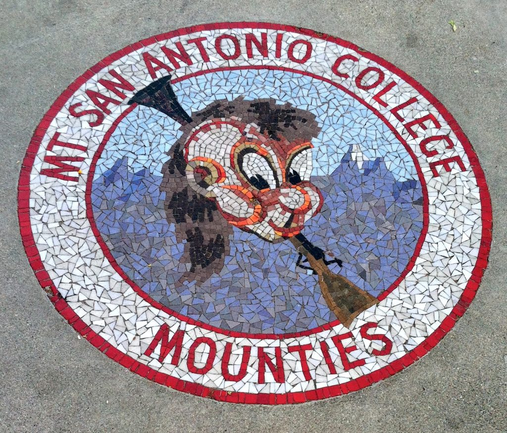 Millard Sheets Studio, Joe Mountie mosaic, Mt. San Antonio College, Walnut, c. 1965