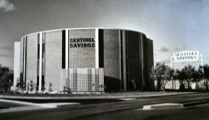 S. David Underwood, Sentinel Savings and Loan, San Diego, 1962 (demolished); S. David Underwood Archive.