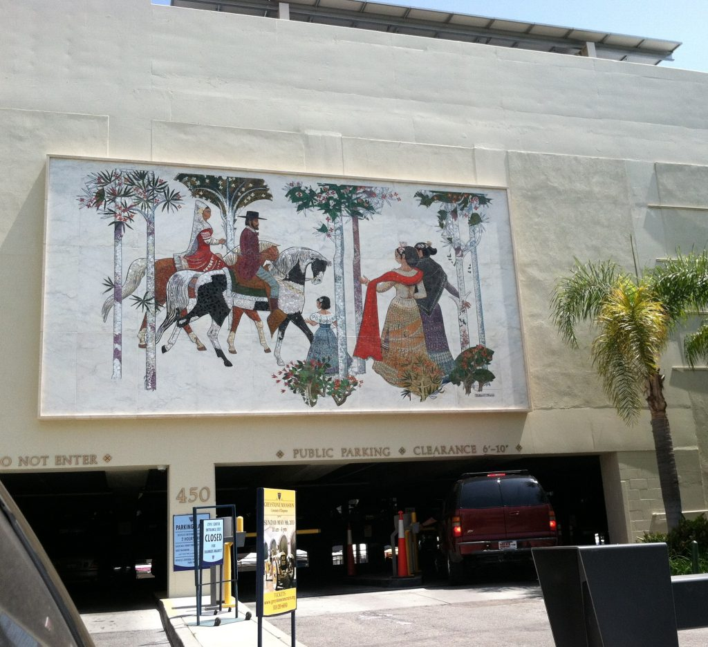 Beverly Wilshire mosaic as reinstalled at Beverly Hills Civic Center, April 2013