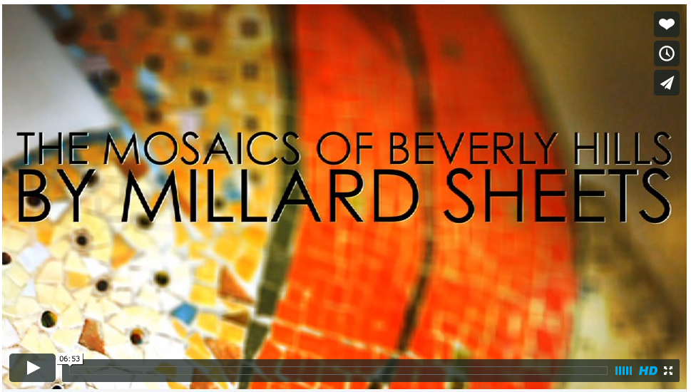 """The Mosaics of Beverly Hills by Millard Sheets,"" https://vimeo.com/93163654"
