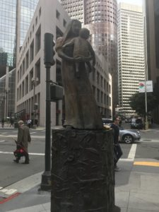 My photograph of Gwynn Merrill sculpture for Home Savings, San Francisco.