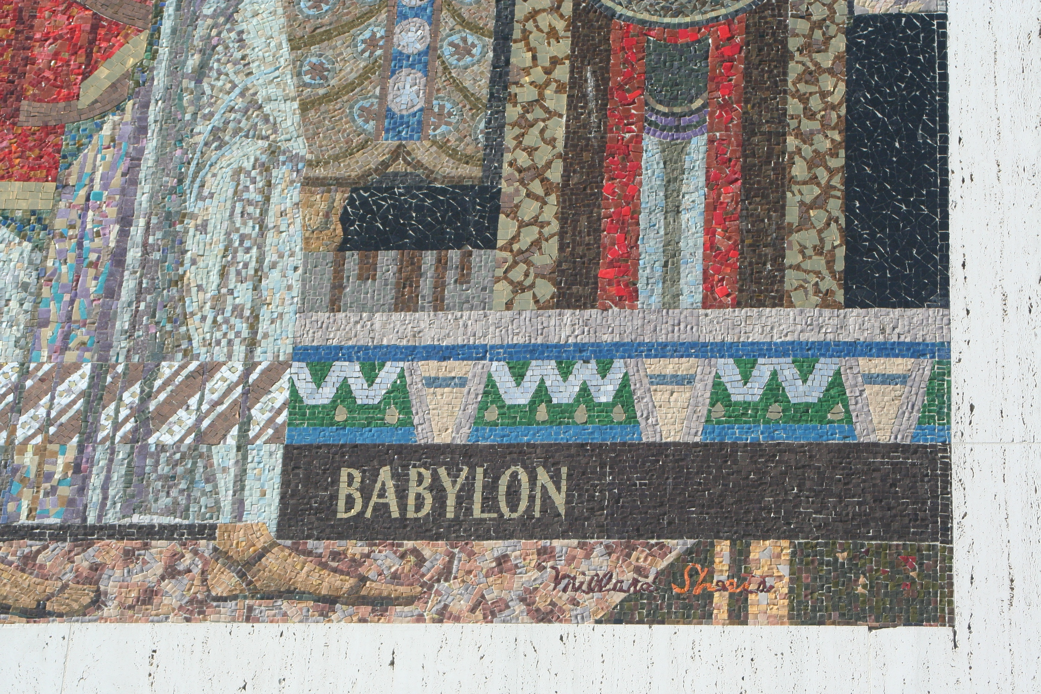 detail of Babylon with signature, 1963