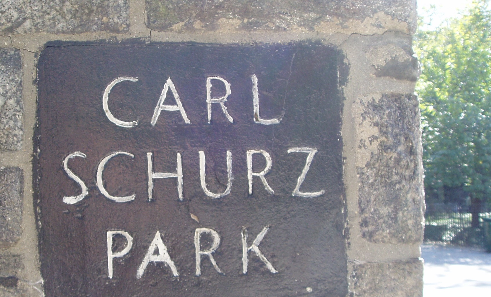 Carl Schurz Park, Manhattan's East Side.