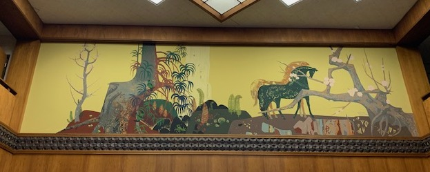 Millard Sheets, mural, Pacific Beach Home Savings, San Diego, 1976